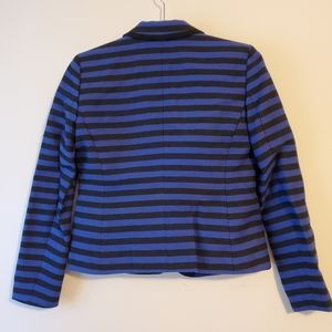 LOFT Jackets & Coats - Loft blue and black striped blazer